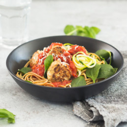 Italian Chicken Meatballs - Fresh Pre Packaged Meals - Deliciously Clean Eats