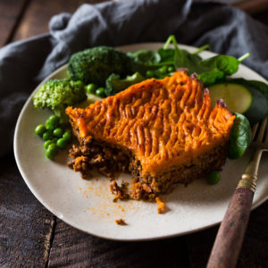 Beef & Vegetable Sweet Potato Shepards Pie